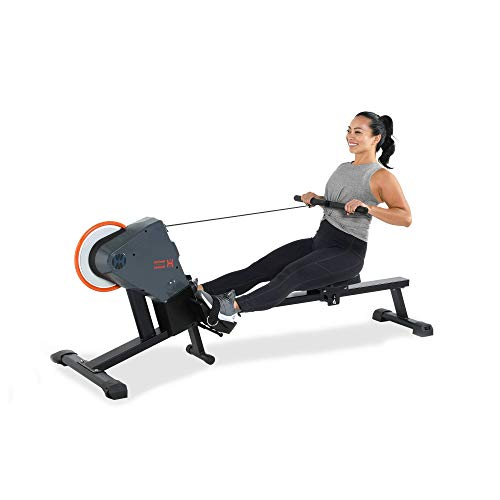 Women's Health Men's Health Bluetooth Rower Rowing Machine with 6 Month Free MyCloudFitness App, Black (1638)