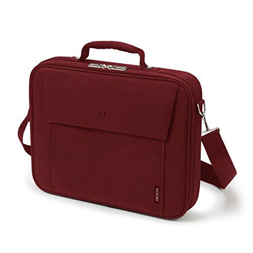 Dicota Multi 15-17.3 Inch BASE Laptop Computer and Tablet Shoulder Bag, Lightweight Clamshell Laptop Case, Red