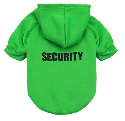 WuqiAng Escudo con Capucha de Verano Deportes del Perro Gatito suéter de la Ropa del Perro casero Chaleco de la Camiseta, tamaño: XS (Color : Green)