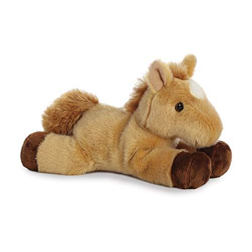 AURORA, 13298, Mini Flopsie Horse, 8In, Soft Toy, Brown
