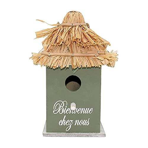 Nistkasten für Vögel, Vogelkäfig aus Holz für Wellensittiche, langlebig, dekorativ, für den Außenbereich, 8,66 x 5,51 x 5,51 Zoll