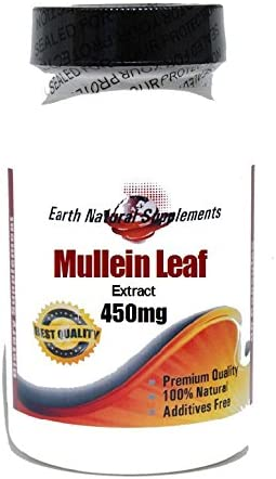 25% OFF Mullein Leaf Max 74% OFF 450mg 200 Capsules by 100% - Natural EarhNaturalS