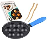 Enjoy delicious pancakes in their original round shape. Upstreet's cast iron ebelskiver pan make the perfect - light and fluffy - pancake balls. Also known as aebleskiver and/or Danish pancake puffs, have been a breakfast delicacy for centuries. Made...