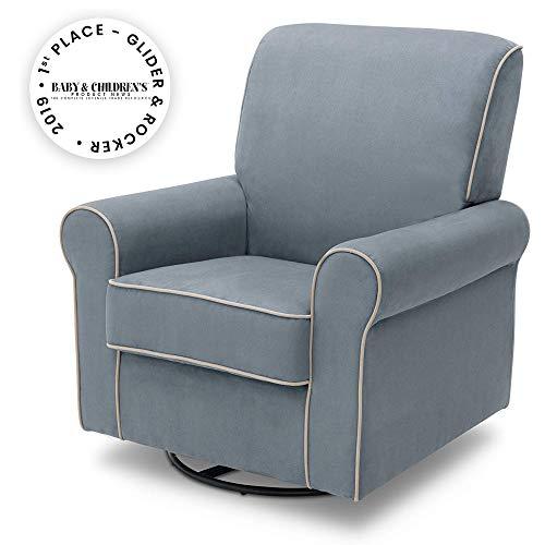 Delta Children Rowen Glider Swivel Rocker Chair, Frozen Blue