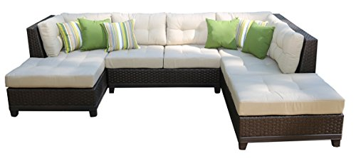 AE Outdoor(AEOUA) SEC200520 4 Piece Hillborough Sectional, 113 W x 55 D x 30 H, Beige