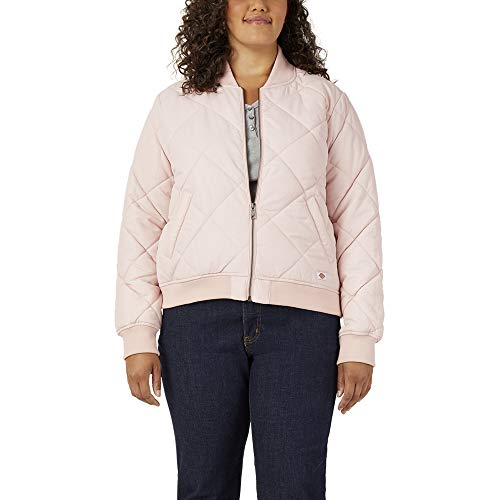 Dickies Damen Plus Size Quilted Bomber Jacket Steppjacke, Lotus Pink, 2X