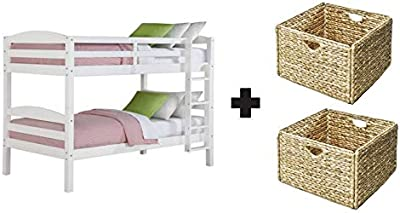 Better Homes and Gardens* Converts to 2 Stand-Alone Twin Over Twin Wood Bunk