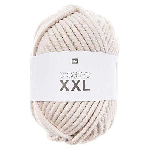 Rico Creative XXL Mega Wolle, Beige, 1 kg