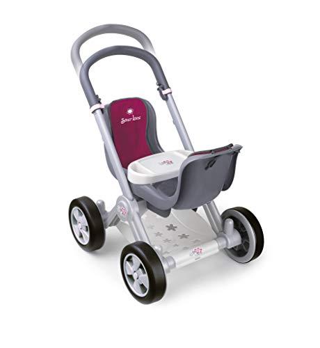 Silver Line- Kinderwagen für Zwillinge Puppen, Rot farbe (Famosa 800008883)