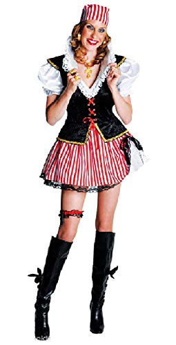 M211112-S-A rot-schwarz Damen Seeräuber Braut Piraten Kostüm Gr.S