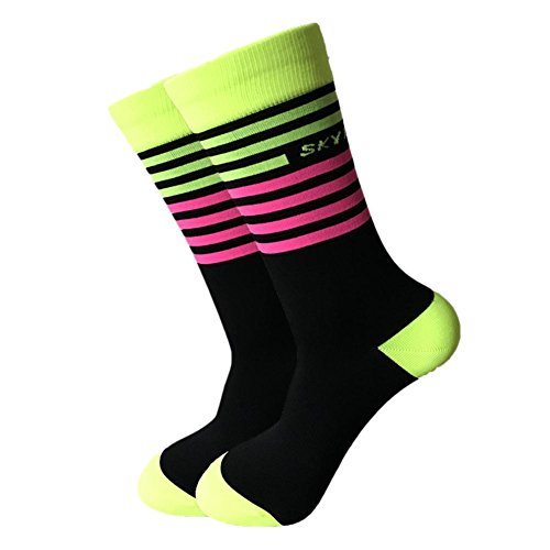 –Calcetines de ciclismo deportivo Calcetines originelle Calcetines a rayas en 4colores tamaños de 39a 45alta calidad Mujer y Hombre Calcetines