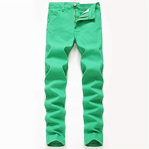 Jeans Rode Sportieve Broeken hoge elastische dunne gedeelte Multicolor groot formaat Shells Cotton Jeans met Soft Touch (Color : Green, Size : 8XL)