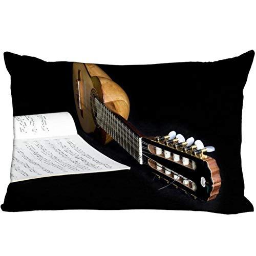 Guokaixyz Funda Cojin Funda Cojin Guitarra Acordeón Inicio Dormitorio Hotel Cama Decoración del Coche Funda De Almohada Suave Y Cómoda 30X50Cm Poliéster-Algodón-3