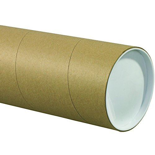 "Tape Logic TLP5024KHD Jumbo Mailing Tubes, 5"" x 24"", Kraft (Pack of 15)"