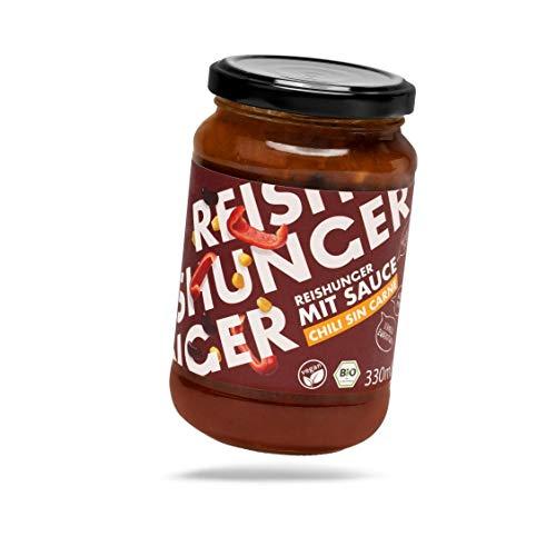 Reishunger BIO Sauce Chili Sin Carne (1 x 330ml) - Vegan & Glutenfrei - In vielen Sorten & Größen erhältlich - Ideal zu Reis, Pasta und anderen Gerichten