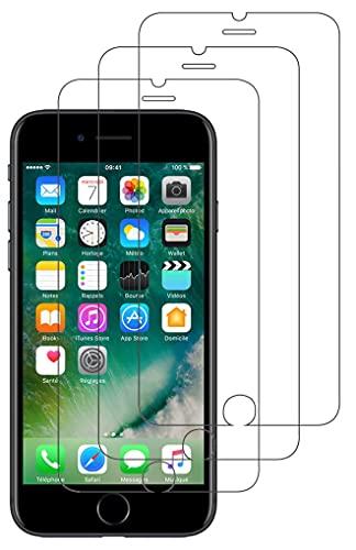 3 Pezzi, Vetro Temperato Compatibile con iPhone SE 2020, iPhone 8 e iPhone 7, Pellicola Protettiva Anti Graffio, Anti-Impronte, Durezza 9H, 0,26mm Ultra Trasparente, Ultra Resistente