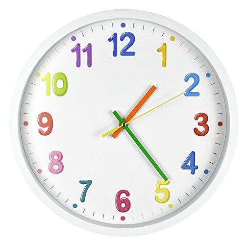 DORBOKER Reloj de pared infantil para dormitorio, sala de estar, aula, etc.
