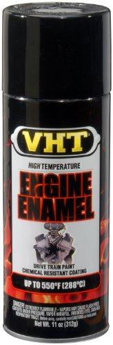 VHT ESP124007 Engine Enamel Gloss Black Can - 11 oz.