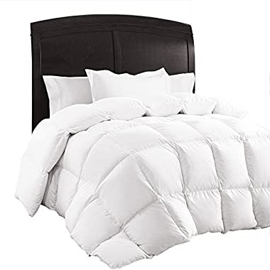 Queen Comforter, Down Duvet Alternative Insert Set with Corner Tabs, All Season Quilted White Hypoallergenic & Reversible, Box Stitched Goose Down Alternative Fill, Brushed Microfiber