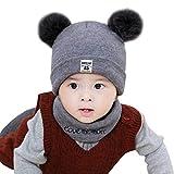 KUKICAT Bonnet Bebe Couleur Unie Unisexe Bonnet de Nuit Bonnet bébé Bonnet en Laine pour Garder au Chaud Le Foulard Hat