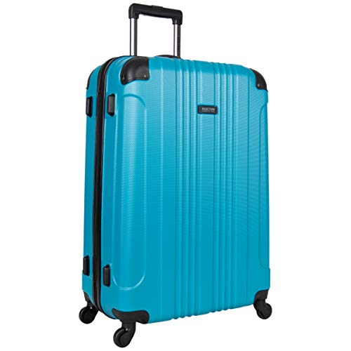 Kenneth Cole Reaction Out Of Bounds 28-inch Check-Size Lightweight Durable Hardshell 4-Wheel Spinner Upright Luggage, Teal