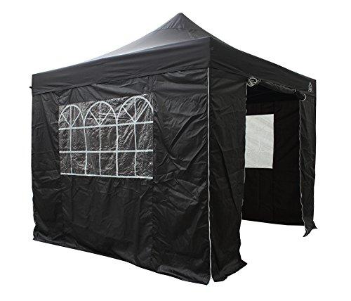 All Seasons Gazebos 3x3m Waterproof Pop Up Gazebo - Black (Standard Sides)
