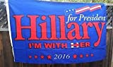 Hillary Clinton Flag 3x5 Ft Hillary for President I'm With Her 2016 Flag