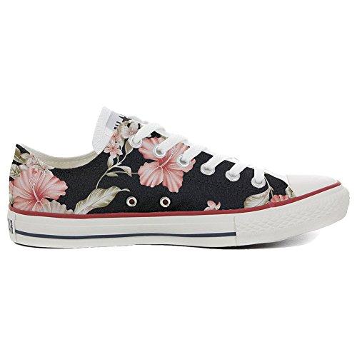 Sneaker Model American USA - Base Italian Style -personalisierte Schuhe - Handmade Shoes - Tropische Blume - TG39