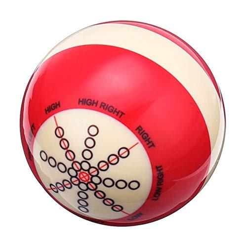 cherrypop Billard- / Snooker-Bälle aus Kunstharz, 57 mm, robust, Weiß / Rot, für Anfänger