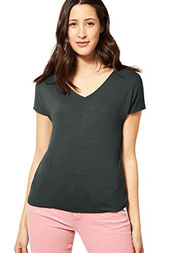 Street One Damen 314899 Ramona T-Shirt, Comfort Green, 42