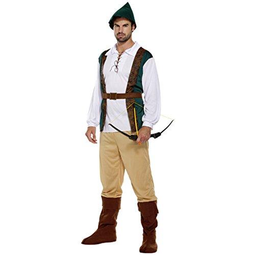 Spassprofi Mittelalter Kostüm Robin Hood Größe 48-52 Faschingskostüm Jäger Räuber