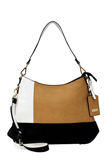 LYDC London Damen Handtasche Kunstleder Schultertasche