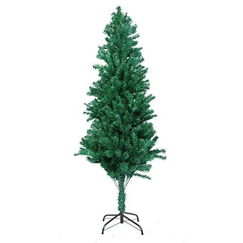 Mbuynow Grüner Weihnachtsbaum, 1000 künstliche Metallhalterungen, DIY-Design, Dekoration für drinnen und draußen, traditionelles Weihnachtsgeschenk, 2,1 m