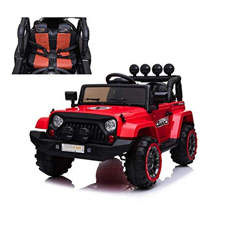 TOYSCAR electronic way to drive Auto Macchina Elettrica per Bambini Fuoristrada Adventure 12V MP3 LED con Telecomando Full Optional Sedili in Pelle