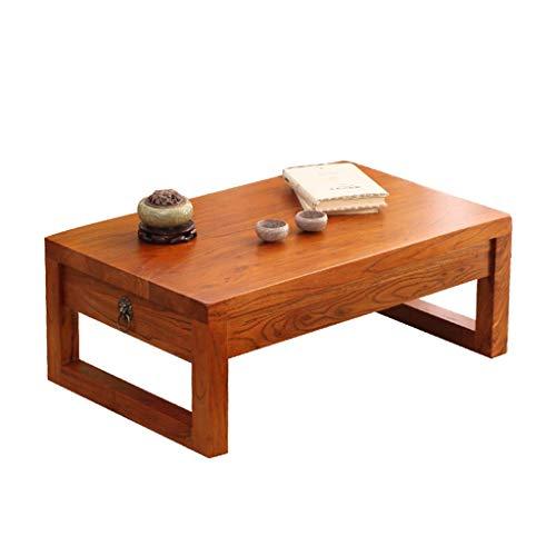 Tables Basse en Bois De Hêtre en Baie Vitrée en Bois Massif avec Chambre À Coucher Basse en Tatami Japonais Salon Basses À Tiroir Mobilier Minimaliste Moderne