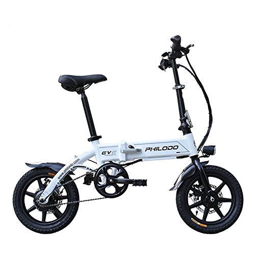 WQY Bicicletas Eléctricas Plegables E, Bicicletas De Montaña Batería Extraíble De Iones De Litio De Gran Capacidad 36V, 8Ah, Bicicleta De Montaña para Hombre Plegable, Bicicletas Eléctricas