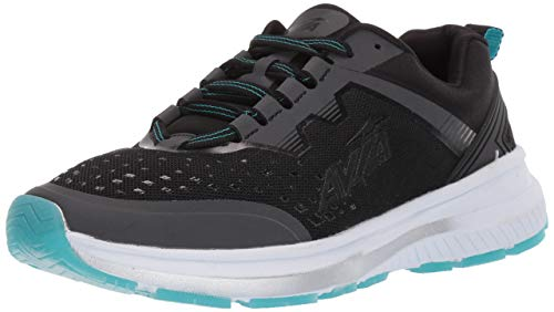 Avia Women's Avi-Maze Sneaker, Black/Scuba Blue, 9 Medium US