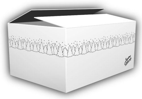 VillageBox デザインダンボール L ウィンター