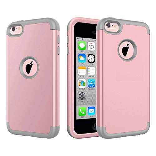 bq iphone 5c covers 5c Case, iPhone 5c Case. J.west 3 in 1 Hard PC Shell and Soft Silicone Hybrid iPhone 5c Cases Shockproof Anti-Scratch Combo Cover for iPhone 5c - Rose Gold/Grey