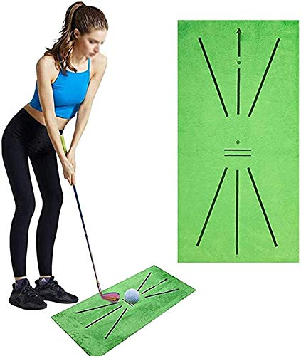 Esterilla de Golf portátil en para Entrenamiento Estera de entrenamiento de golf, colchoneta portátil de golf para detección de swing, durable batting Mini Golf Practica juego Regalo 60 * 30 cm