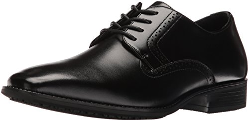 STACY ADAMS mens Ardell Slip Resistant Plain Toe Oxford, Black, 10.5 US