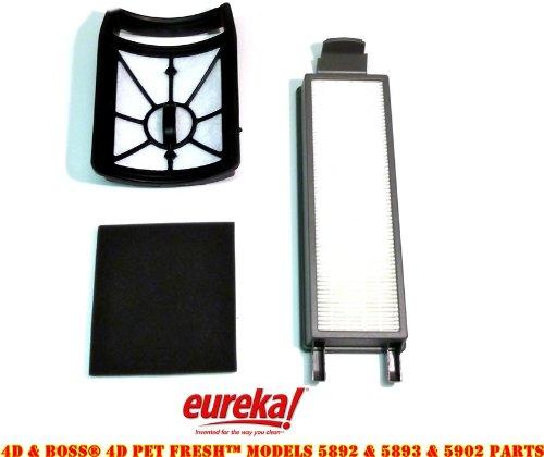 Eureka 4D Boss, Pet Fresh Bagless Upright Filter Kit. Fits 5892AVZ, 5892BVZ, 5893AVZ, 5893BVZ, 5902AVZ, 5902BVZ