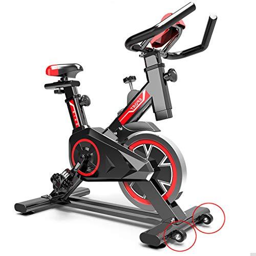 GJXJY Bicicleta Estática Ciclo Indoor. Volante de Inercia 5 Kg, Altura Ajustable, Pantalla LCD, para Gimnasio de Oficina en Casa