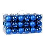 Deuba Juego de 54 Bolas para árbol de Navidad Azul Ø6cm Bolas de Navidad Decoración...