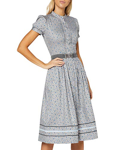 BERWIN & WOLFF TRACHT FOLKLORE LANDHAUS Damen 806605 Kleid, Grau mit hellblau, 36