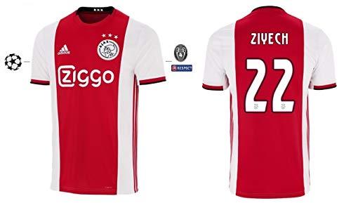 Ajax Amsterdam Trikot Herren 2019-2020 Home UCL - Ziyech 22 (M)