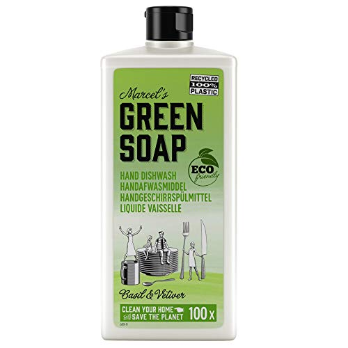 Marcels Gr Soap Afwasmiddel Basilicum & Vertivert Gras, 500 ml