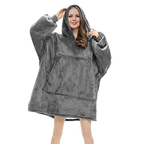 RainRose Blanket Hoodie, Oversized Sherpa Sweatshirt Wearable Blanket Super Soft Hoodie, Warm Cosy Pullover One Size Fits All Gift for Women Girls Adults Men Boys Friends