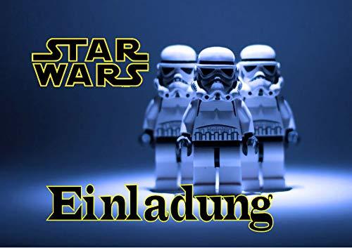 TV-24 Star Wars Einladungskarten 6er Set inkl. 6 Umschläge E5