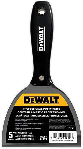 DEWALT DXTT-2-171 Spachtelmesser, Edelstahl, mit schwarzem Nylon-Griff, 12,7 cm